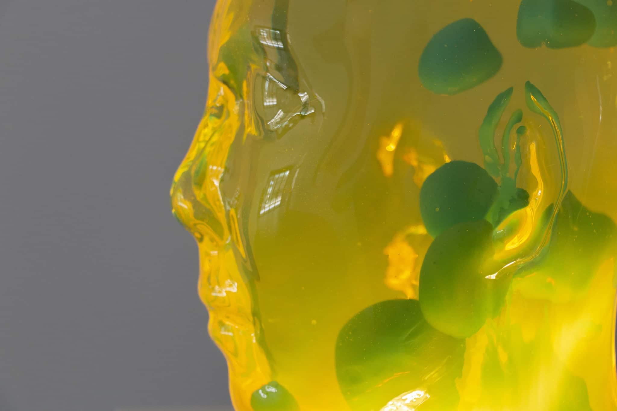 En gul lavahode